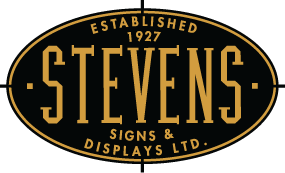 Stevens Signs and Displays logo