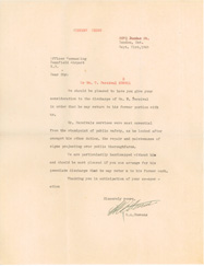 Letter requesting the release of a staff member.