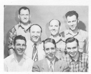 Photo of Stevens staff members from the 1940s